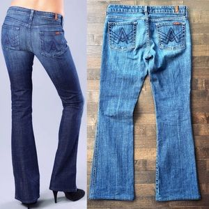 7 For All Mankind 'A' Pocket Flare Jeans Size 29
